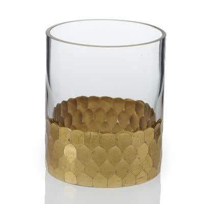 """Elsa Vase 3.25""""x 4"""" Gold"""