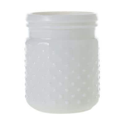 """Hobnail Jar 4""""x 5"""" White"""
