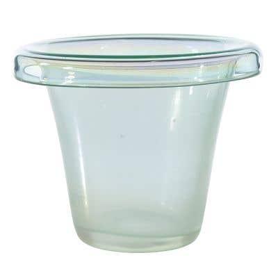 "Iridescent Vase 8""x 6.75"""