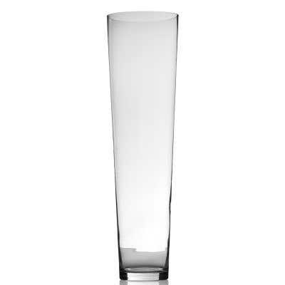 "Voluminous Vase 10""x36"" Clear"