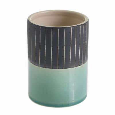 """Kino Vase 3""""x 4.25"""" Stripe"""