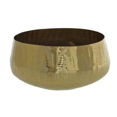 "Roberi Bowl 12.5""x 7"" Gold"