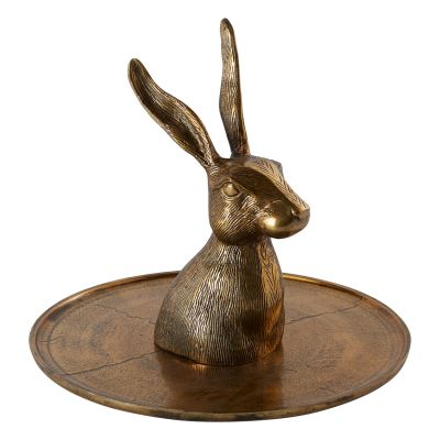 "Halcyon Hare Platter 14""x 12"""
