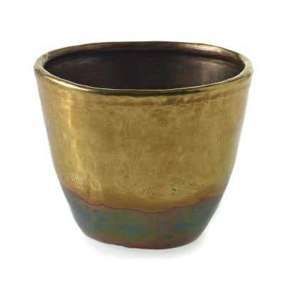 "Moi Vase 3.75""x 3"" Brass"
