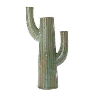 "Saguaro Vase 5.5""x 3""x 10"""