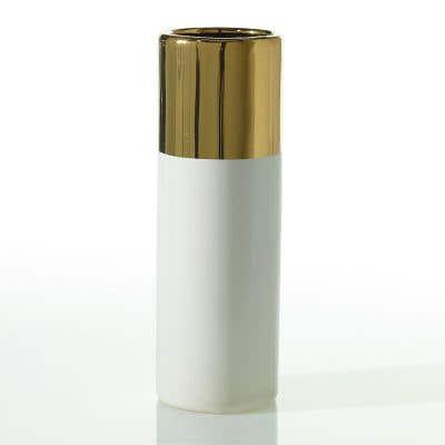 """Klein Vase 4"""" x 12"""" White"""