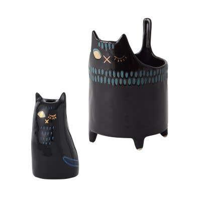 Black Cat Taper Holder
