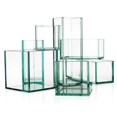 Glass Plate Planter