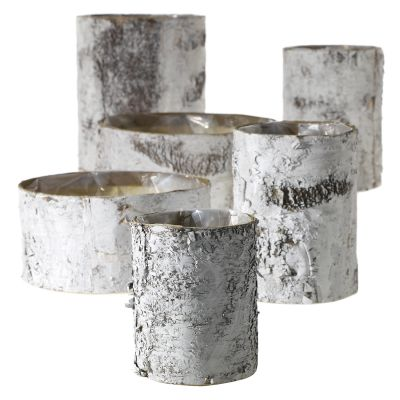 White Birch Cylinder and Bowl