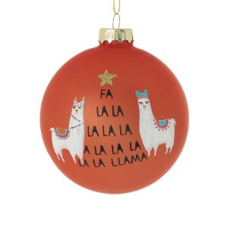 """Fa La Llama Ornament 3"""""""