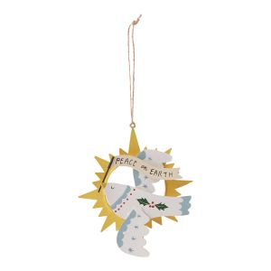 "Peace Dove Ornament 4.5""x 0.5""x 5"""