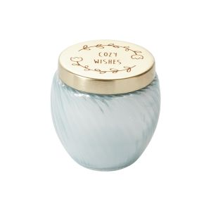 """Holiday Cheer Candle 3""""x 3.25"""" Blue"""