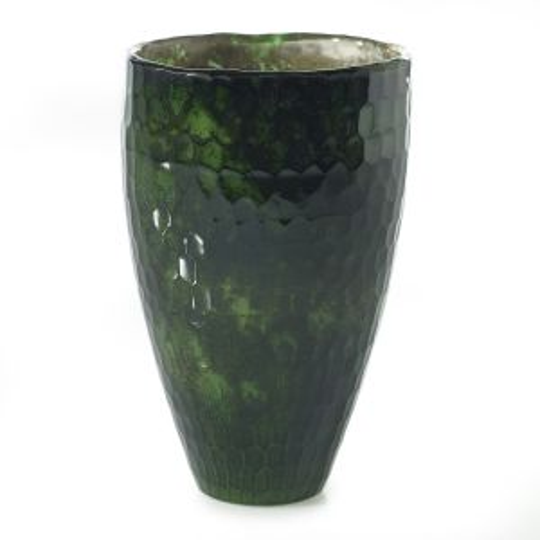 "Regina Vase 4.25""x 6"" Dark Green"