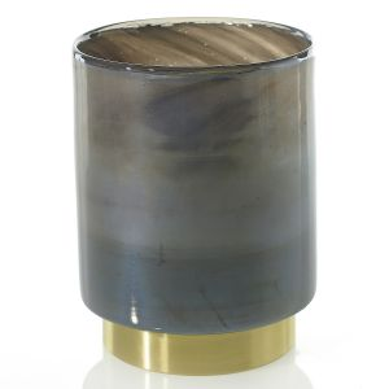 "Noir Vase 5.5""x 7"" Smoke"