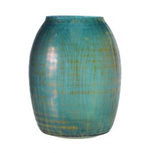 "Theory Vase 10.5""x 15"" Teal Luster"