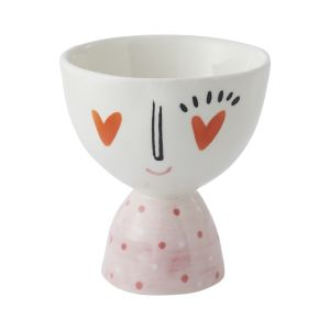 """Heart Eyes Footed Bowl 3.5""""x 3.75"""""""