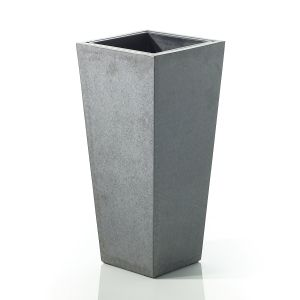 "Tower Vase 13.5""x 29.75"" Grey"