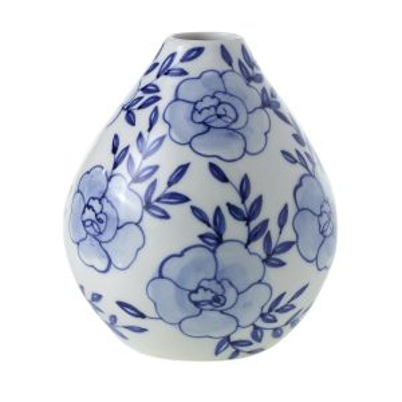 "Eleanor Budvase 4""x 4.5"" Blue"