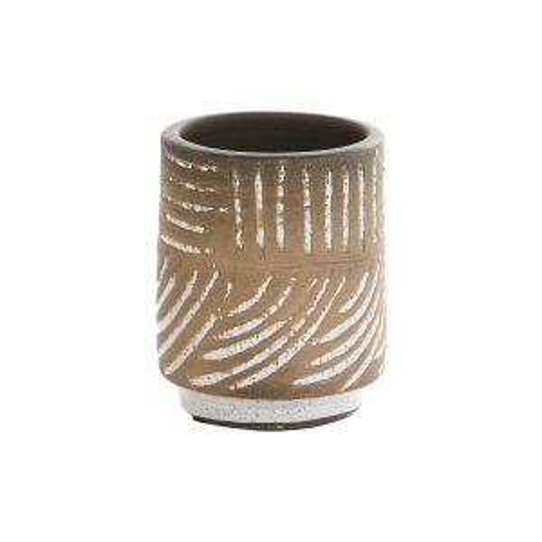"Carmine Vase 4""x5.25"""