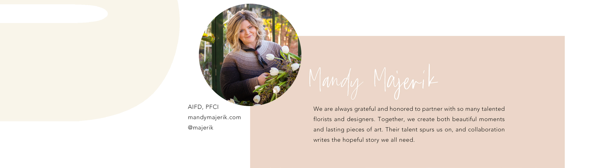 Mandy Majerik, AIFD PFC, mandymajerik.com